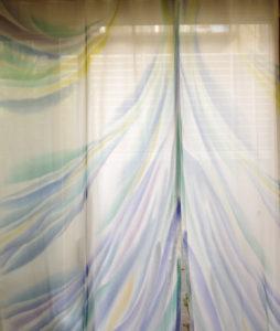 レースカーテン『扉開く風』