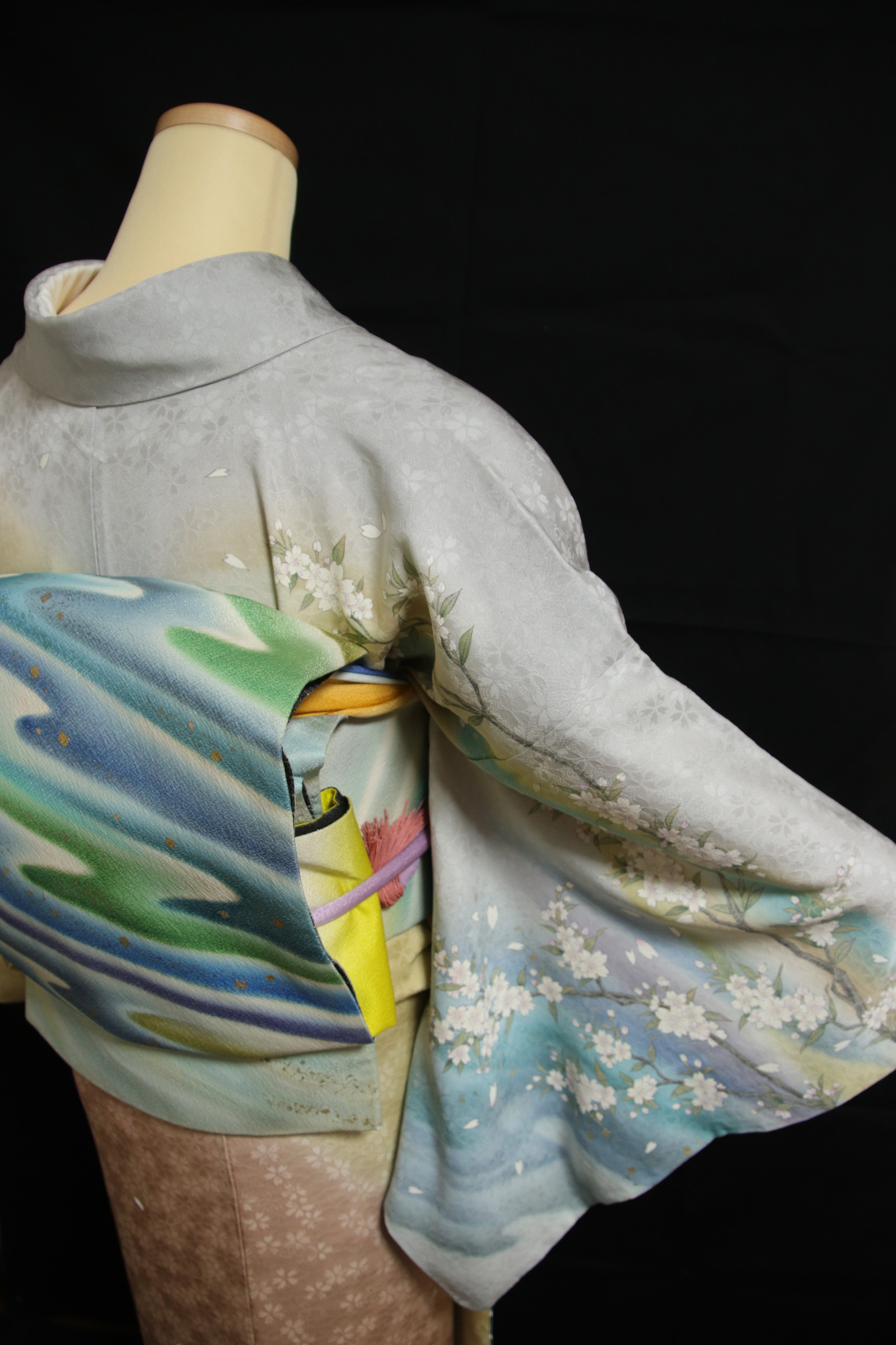 入学式 レンタル着物 手描き着物